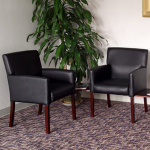 Waiting Room Guest Chairs with Optional Connecting End Tables