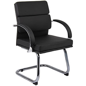 Modern Guest Chairs, Designer Black or White Office Chairs