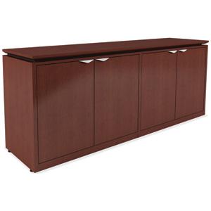 Modern 4 door office credenza cabinet for Modern office credenza