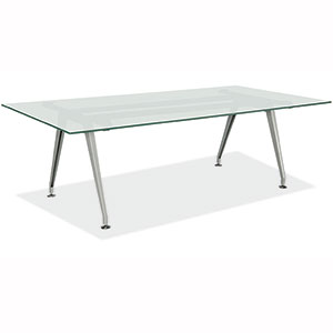 Ft Ft Frosted Glass Conference Table With Metallic Metal Base - 6 foot conference table