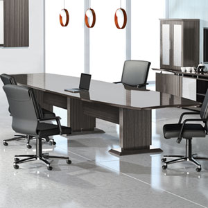 8 foot - 16 foot Modern Designer Conference Room Table & Chairs Set