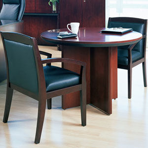Round Conference Table With Or Chairs Set OfficePopecom - Round conference table for 12