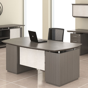 Modern Executive Desk With Optional Hutch & Credenza