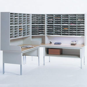Corner Mail Sorter Office Mailroom Station Organizer