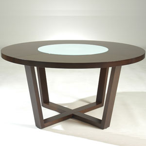 Large Round Dining Table 60 Quot Modern Solid Wood