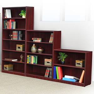 Wooden Bookcases for the Office - Cherry, Mahogany or Ash Grey