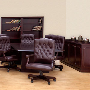 Conference Room Package   8u0027 Or 10u0027 Table, Boardroom Chairs, Credenza U0026 2  Bookcases