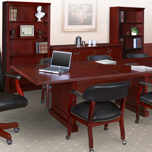 8ft - 24ft Traditional Conference Room Table, Boardroom Table