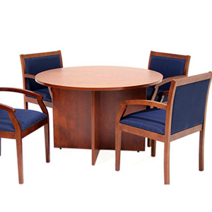 value round conference room table chairs set