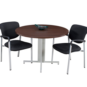 modern round conference table and chairs set