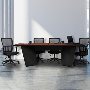 8ft - 10ft Modern Conference Room Table with Reverse Tapered Edge Table