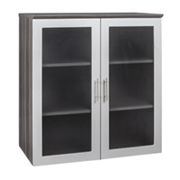 Modern Office Stackable Storage Cabinet with Clear Glass Doors