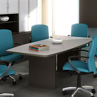 6ft - 18ft Modern Conference Table with optional Power and Data