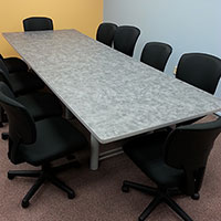 6 ft - 18 ft Modern Conference Room Table, 10 ft Designer Laminate Table