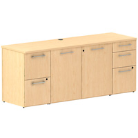 Modern Maple Office Credenza Cabinet