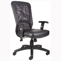 Modern Conference Chair, Mesh Back Office Chair