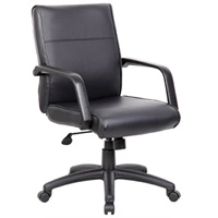 Leather Conference Chairs, Mid-Back Office Chair