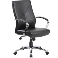 Modern Executive Black Leather Conference Office Chair