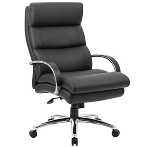 Modern Conference Chair, Big & Tall, 400 Pound Weight Capacity