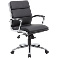 Modern Black Mid Back Conference Chair
