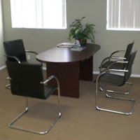 6ft - 12ft Best Value Conference Table with Chairs Set