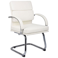 Modern Guest Chairs, Designer White or Black Office Chairs