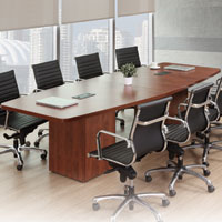 8ft - 24ft Modern Conference Room Table With Cube Bases