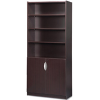 Modern Wooden Office Bookcases with Doors
