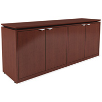 Modern 4 Door Office Credenza Cabinet