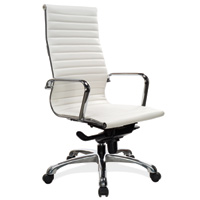 Modern White Conference Room Chairs, High Back Office Chairs