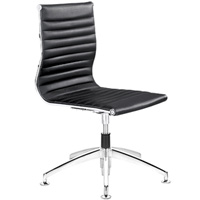 Modern Conference Guest Chair with Metal Chrome Glides