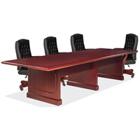 Traditional Conference Table and Chairs Set, Boardroom Set