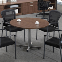 Modern Round Conference Table with Chairs Set