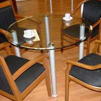 Round Glass Conference Table, Glass Office Table