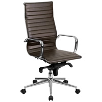 Modern Brown Conference Chair, High Back Office Chair