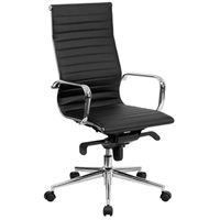 Modern Black Conference Chair, High Back Office Chair