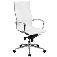 Modern White Conference Chair, High Back Office Chair