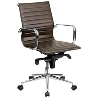 Modern Brown Conference Chair, Mid Back Office Chair