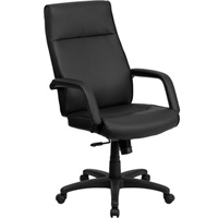 Modern Leather High Back Memory Foam Office Chair