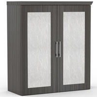 Modern Designer Upper Storage Cabinet For Office, Acrylic or Laminate Doors