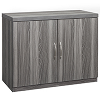 Modern Storage Cabinet, Office Cabinet, Curved Metal Pulls