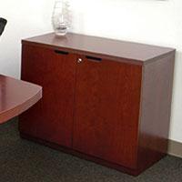 Small Credenza, 2 Door Office Cabinet