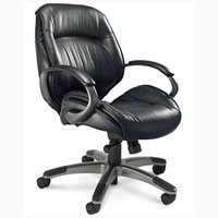 Leather Conference Room Chairs, Mid Back