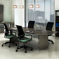 8 foot - 14 foot Modern Conference Table, Meeting Room Table