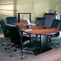 Conference Room Table & Chairs Set w Optional Power Modules
