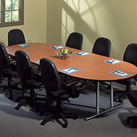 6 ft - 10 ft Conference Room Table with Chairs Set, Contemporary & Modern