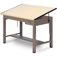 Drafting Table Drawing Desk with Metal Steel Base