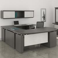 Modern U-Shaped Executive Desk with Optional Hutch & Cabinet