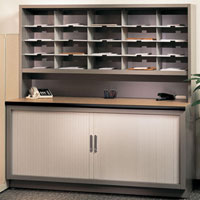 Mailroom Station, Office Mail Sorter, Mailbox Furniture
