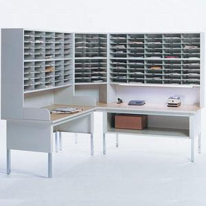 Corner Mail Sorter, Office Mailroom Station Organizer
